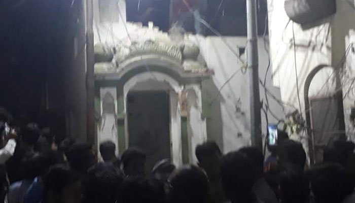 سیالکوٹ میں احمدیوں کی عبادت گاہ مسمار، تحریک انصاف کی شدید مذمت