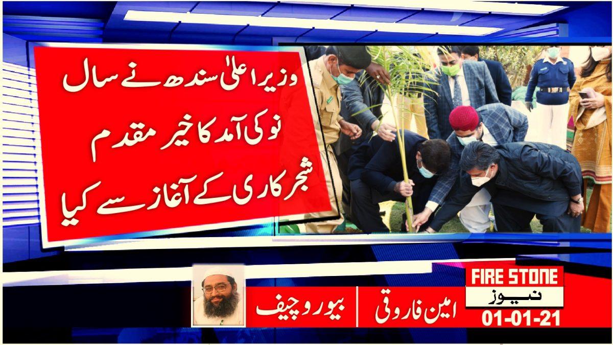 وزیراعلیٰ سندھ نے سال نو کی آمد کا خیرمقدم شجرکاری کے آغاز سے کیا