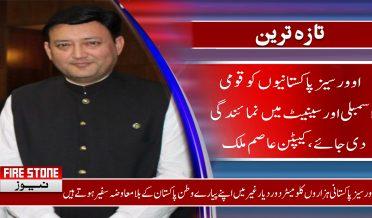 اوورسیز پاکستانیوں کو قومی اسمبلی اور سینیٹ میں نمائندگی دی جائے، کیپٹن عاصم ملک